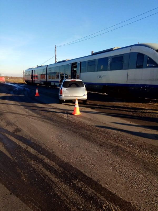 mașină lovită de tren Rădăuți