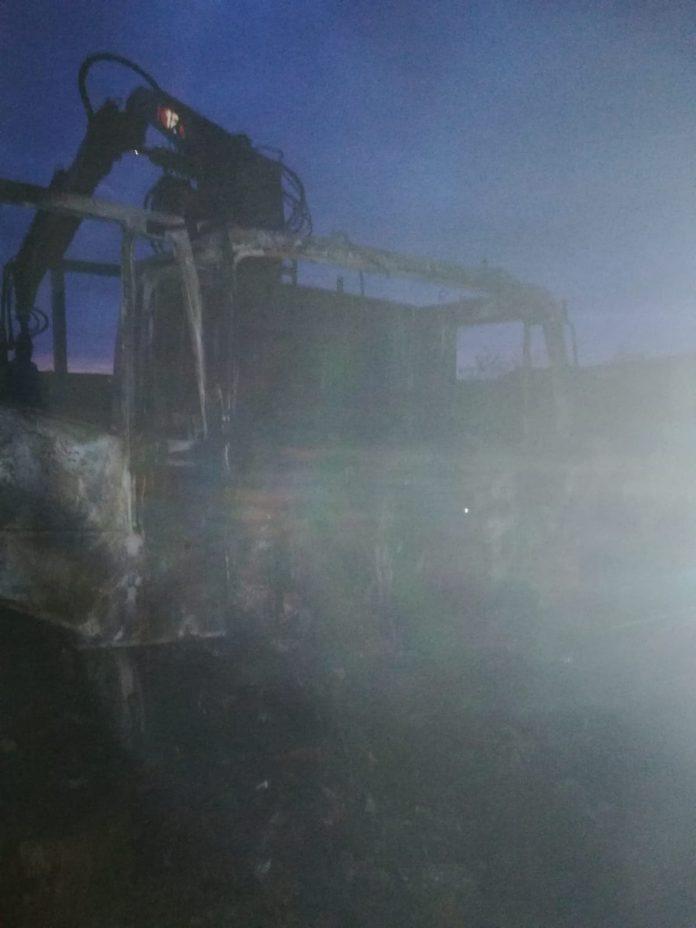 incendiu camion